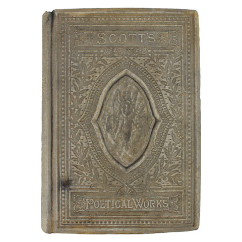 Cast Stone Book - Medium Scott's Poetic Works