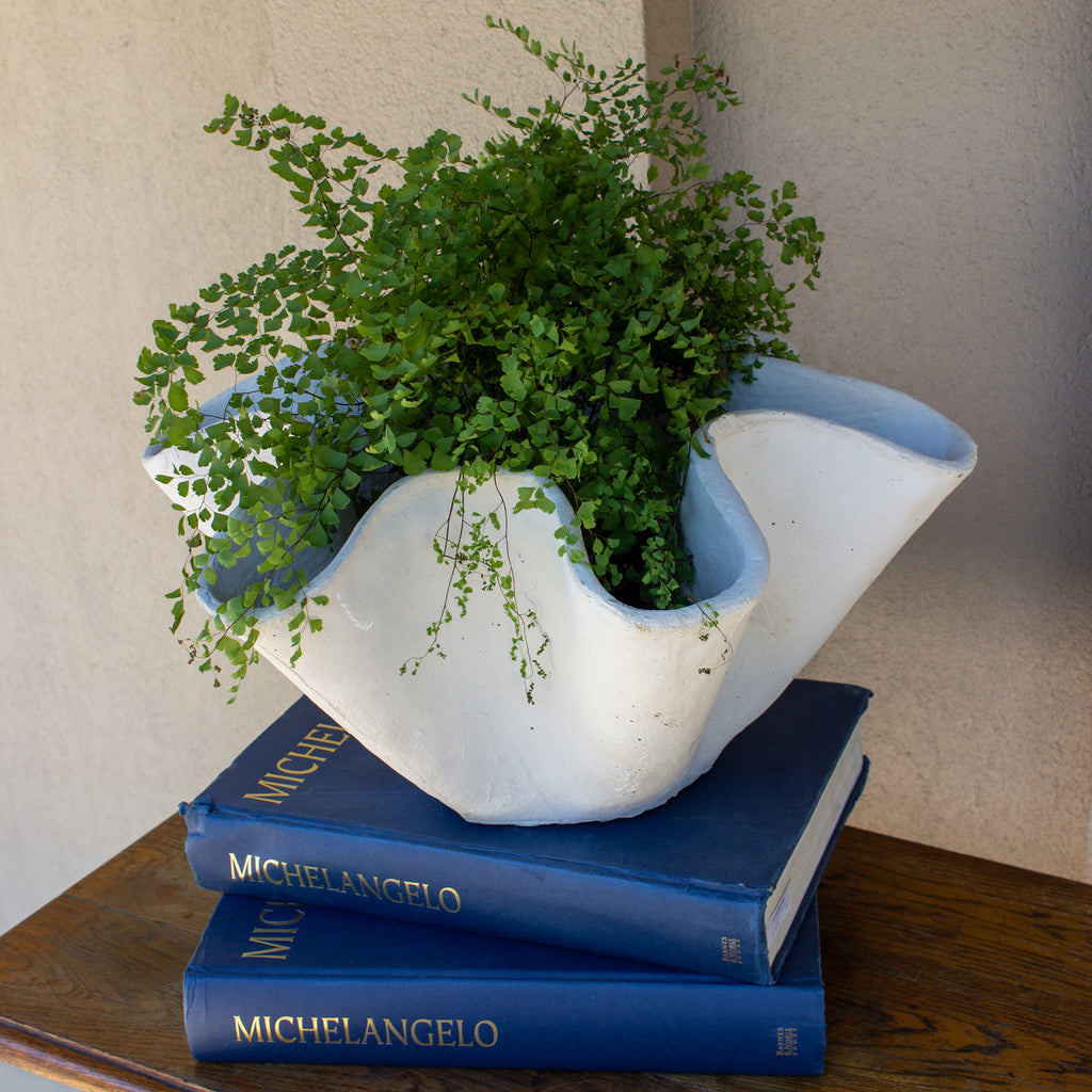 Hand-Cast Stone Paris Bowl Planter