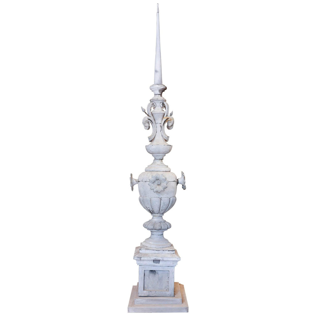 Antique French Zinc Finial on Stand