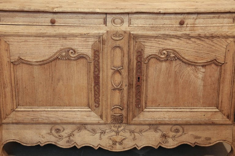 Antique French Oak Sideboard Buffet Cabinet