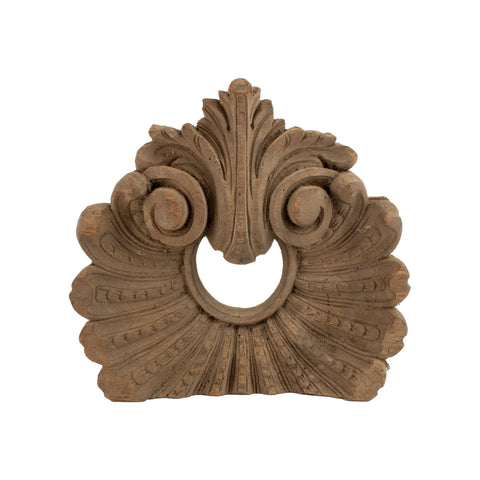 Early French Carved Wood Architectural Fragment