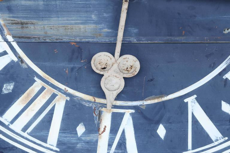 Antique French Clock Tower Face from Northern France