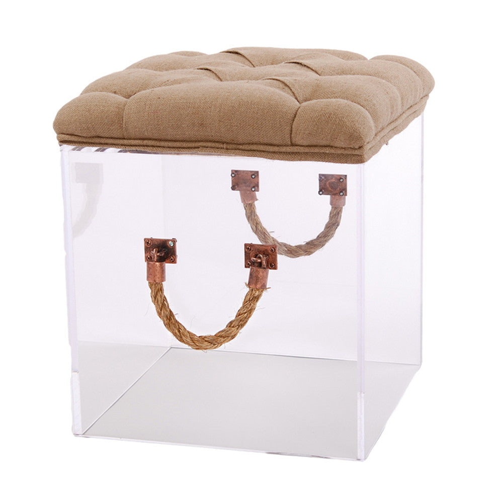 Bella Acrylic Cube with Tufted Top