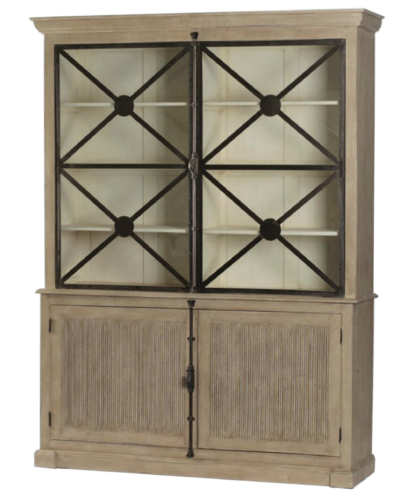 Large Walden French Country Cabinet with Glass Doors