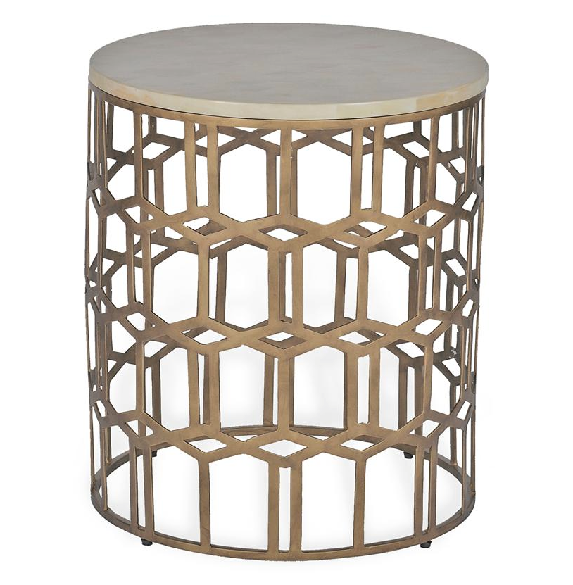 Carmen Brass & Bone Table