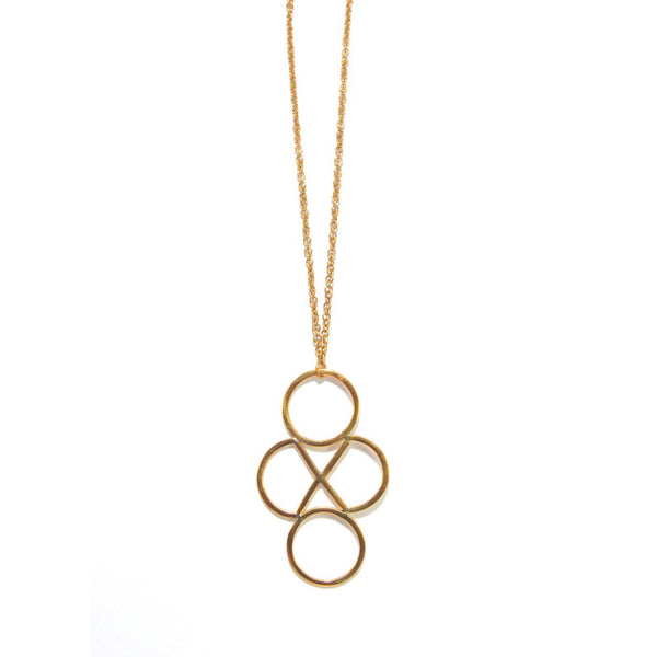 Brass Geo Necklace