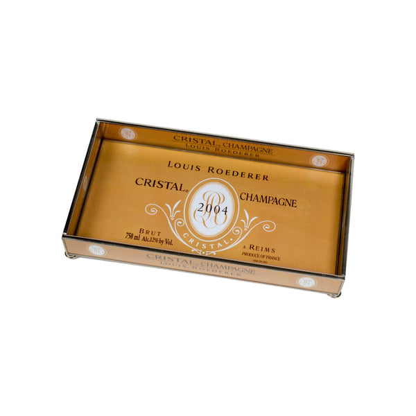 Cristal Champagne Glass Tray