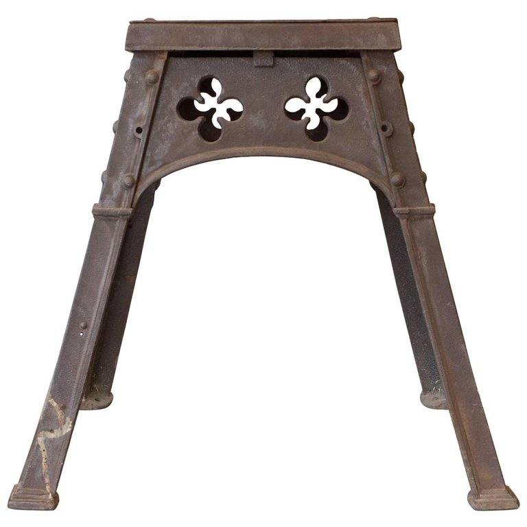 Antique French Gothic Iron Table ca. 1880