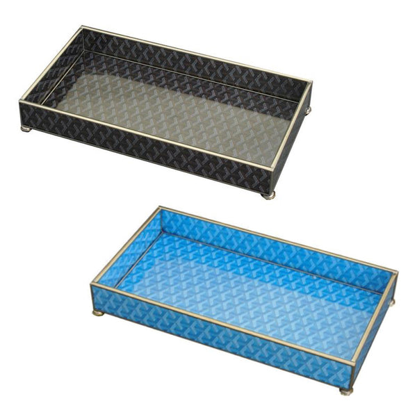 Goyard Inspired Glass Trays - Two Colors Available
