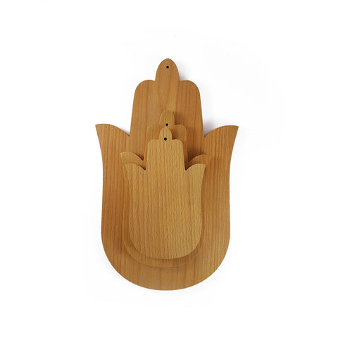 Handmade Moroccan Wood Small Hamsa Cutting Boards