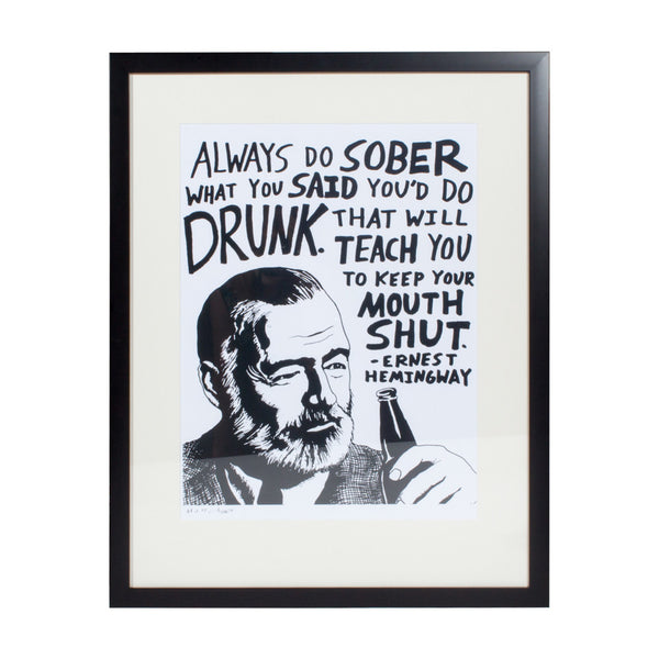 Ernest Hemingway Print by Jeff Sheffield (Limited Edition of 75)