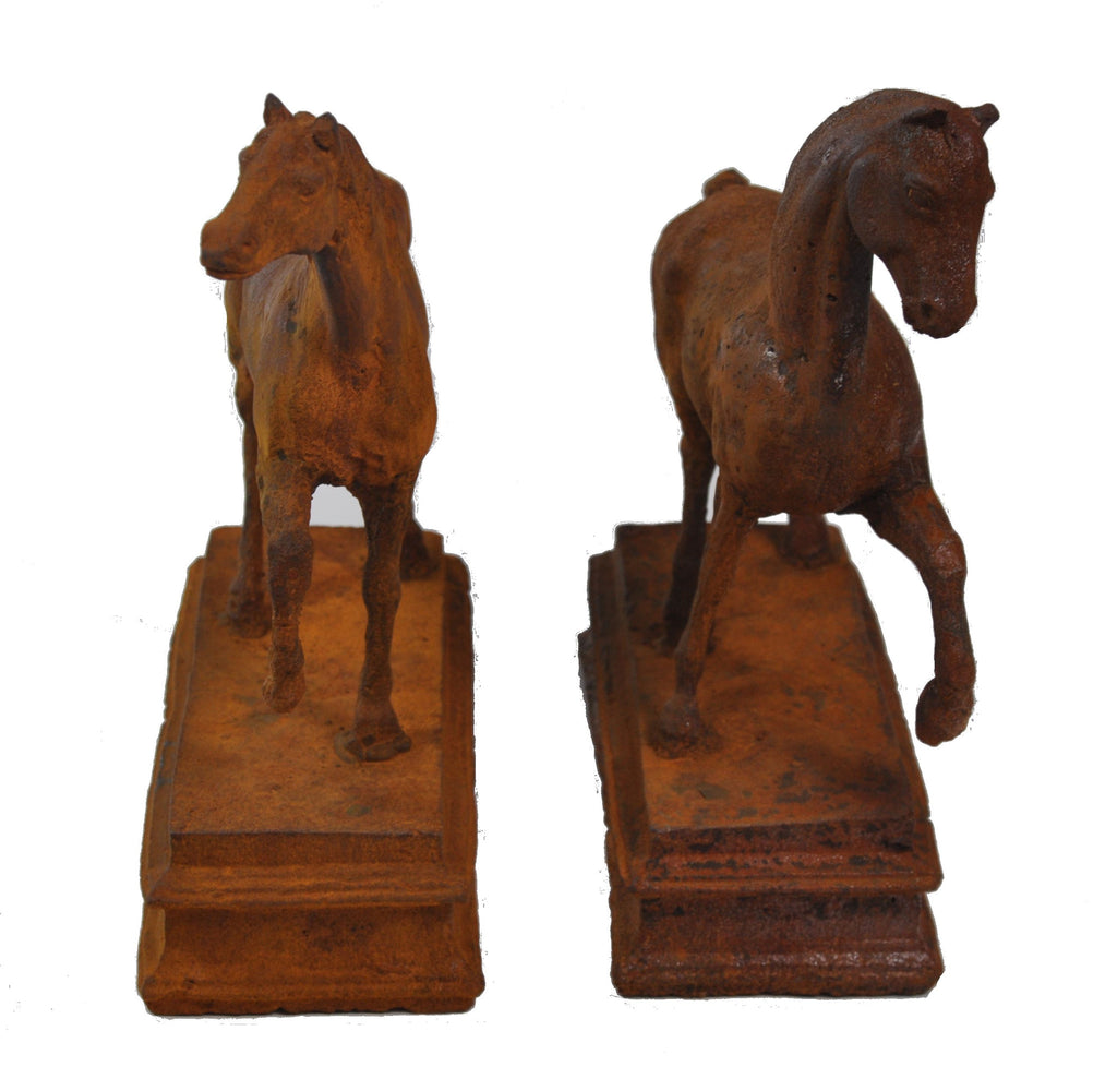 Vintage Thoroughbred Horse, Left & Right Pair