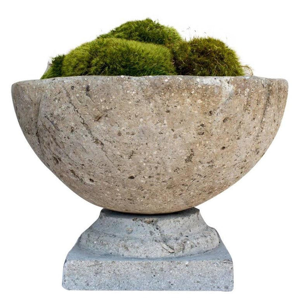 Hand Cast Hypertufa Centerpiece with Preserved Moss