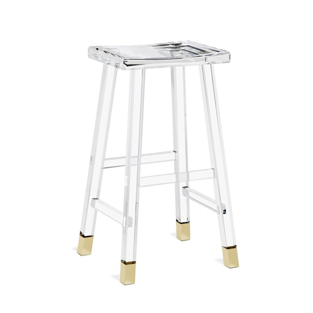 Acrylic Barstool Reva Acrylic Brass Bar Stool Laurier Blanc Unique Home Decor