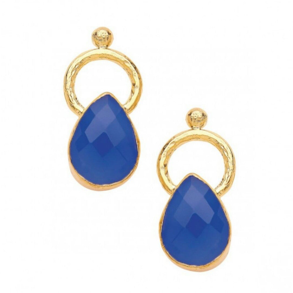 Turkish Delights Earrings: Cobalt Teardrops