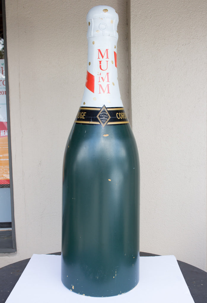 "Vintage French Advertising ""Cordon Rouge"" Oversized Champagne Bottle"