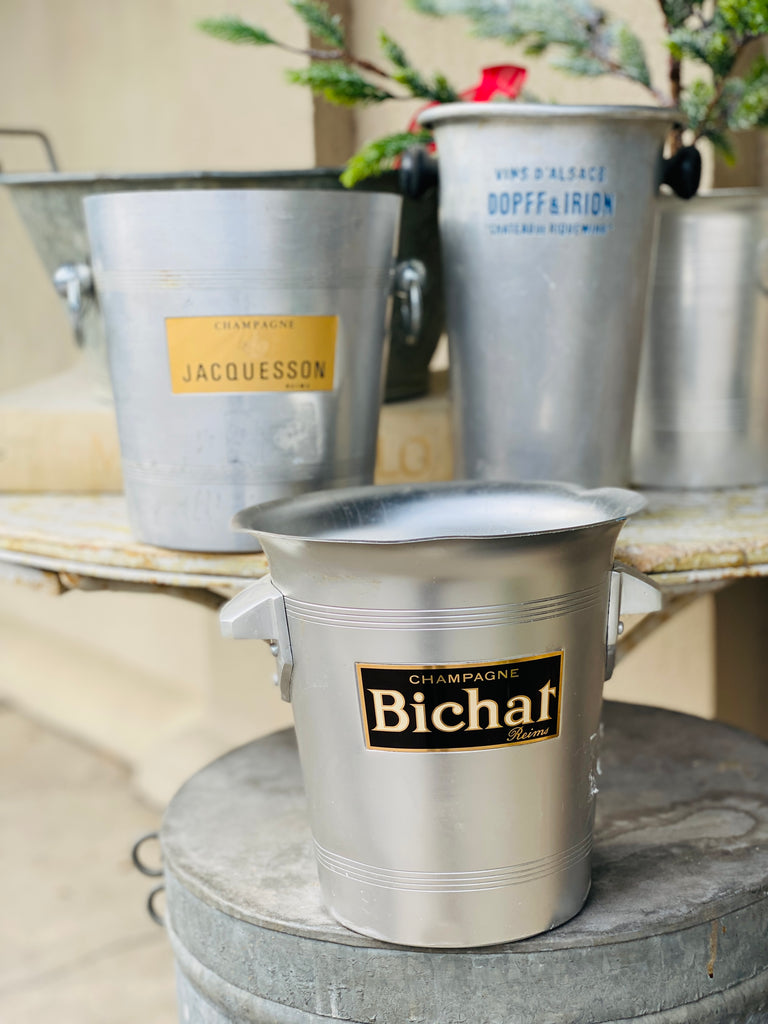 Vintage French Metal Ice Bucket | Bichat Label
