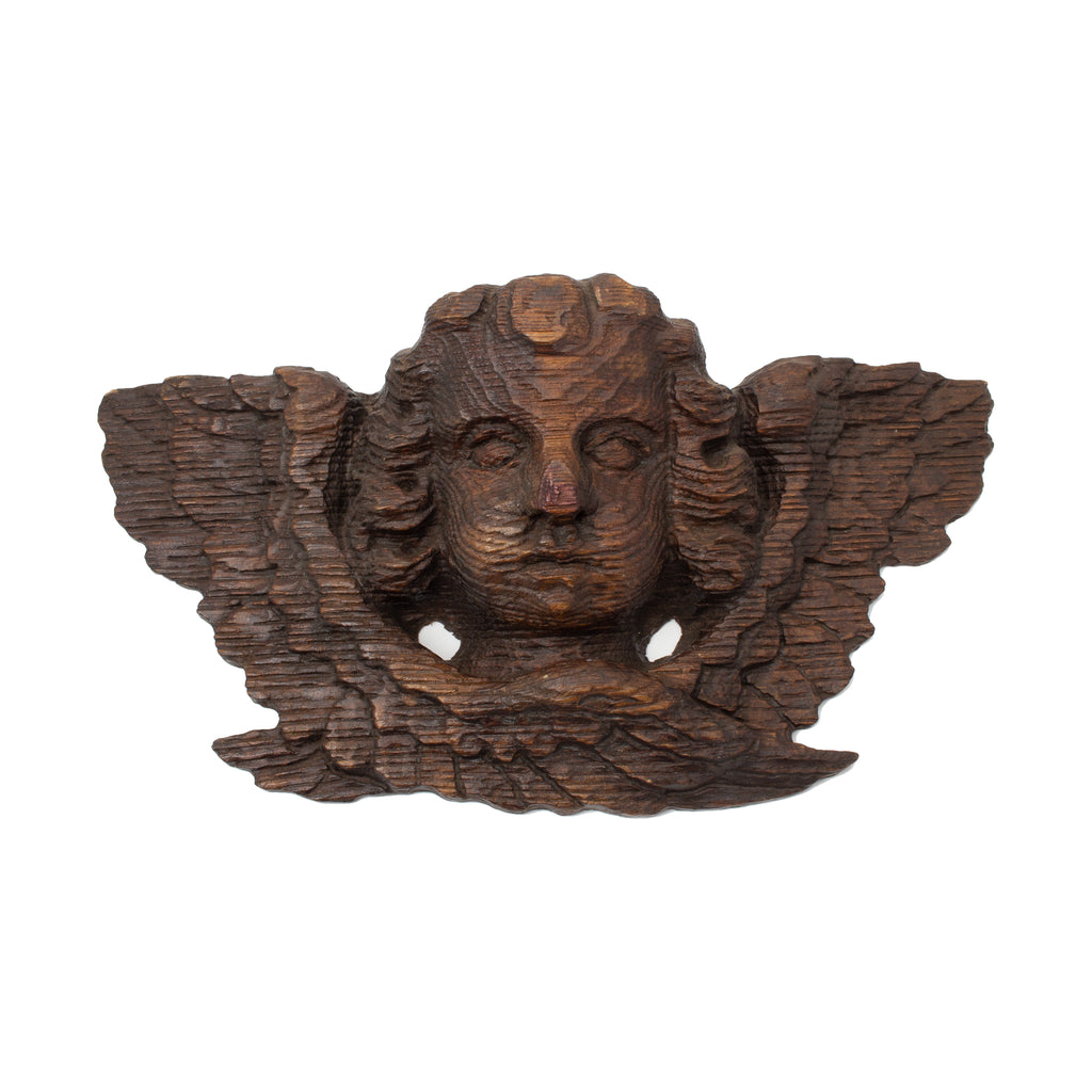 Antique French Carved Angel Wall Bracket
