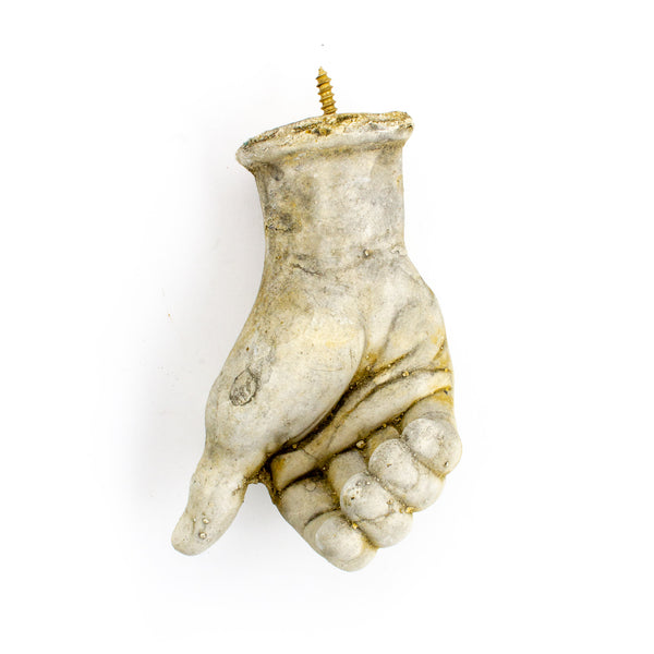 Cast Stone Hand Hook