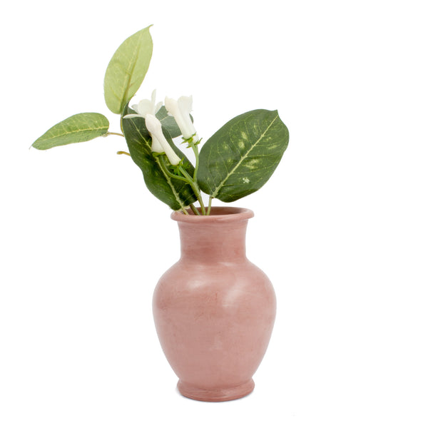 Petite Handmade Moroccan Vase in Dusty Rose