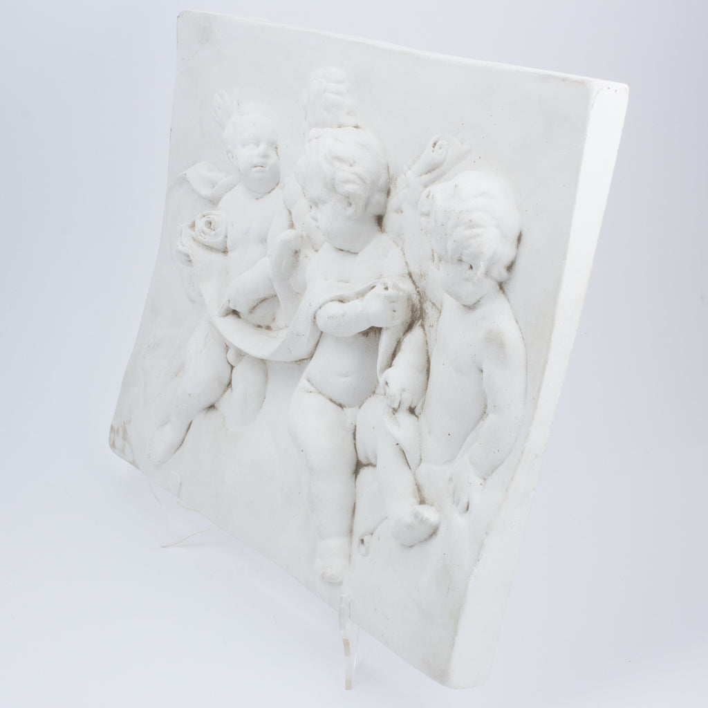 Vintage Plaster Cherubs Wall Plaque