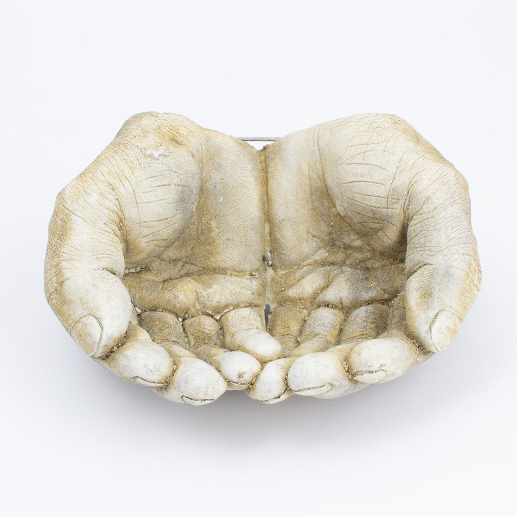 Cast Stone Hands Dish