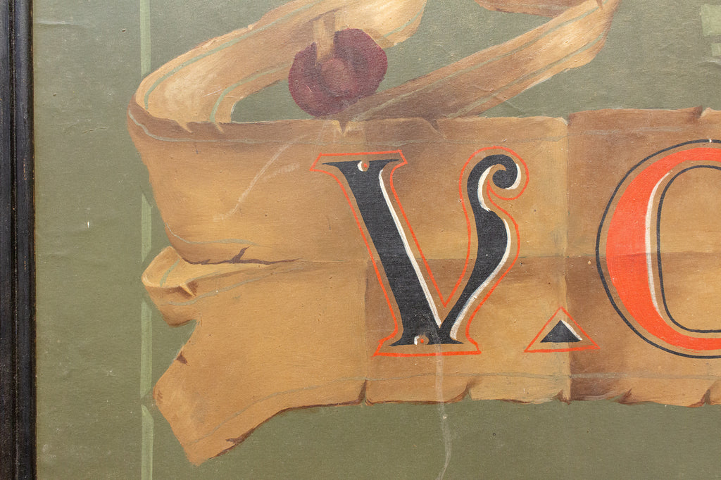 "1920s French ""Signs, Paints, Varnish & Wallpaper"" Trade Sign Poster"