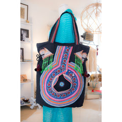 Hmong Beaded Collar Hmong Cinched Totes