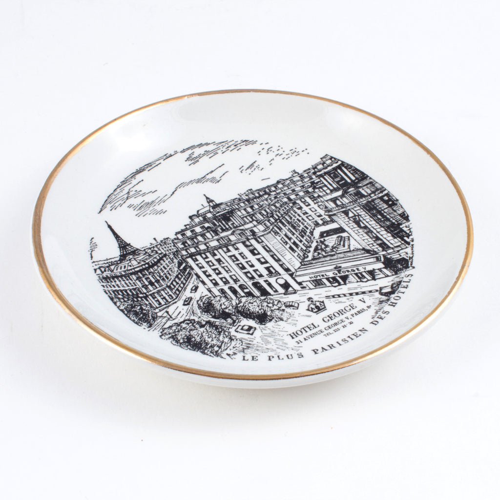 Vintage Round Hotel George V Dish found in Italy