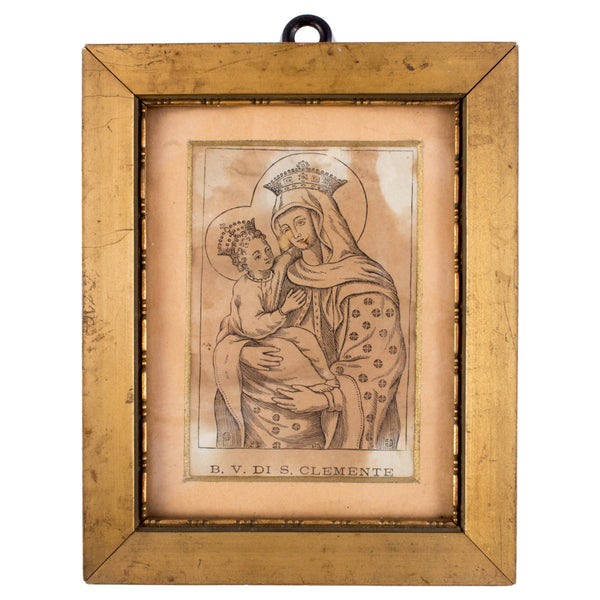 Vintage Framed Religious Etching found in Italy