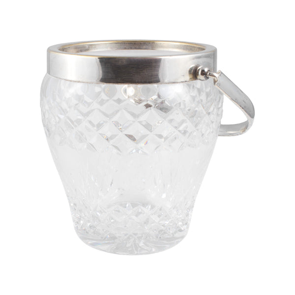 Vintage Italian Cut Crystal Ice Bucket