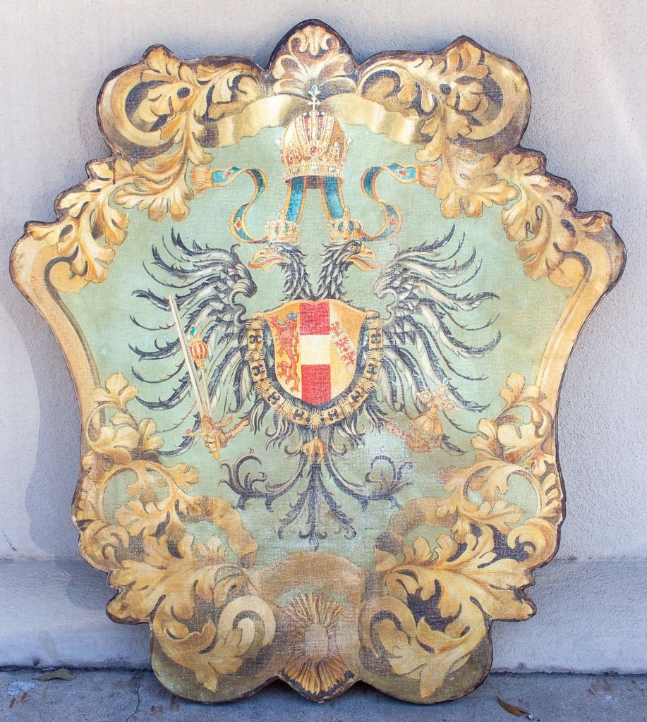 Handmade Baronial Crest Plaque on Solid Wood | Arch-Duchy of Austria