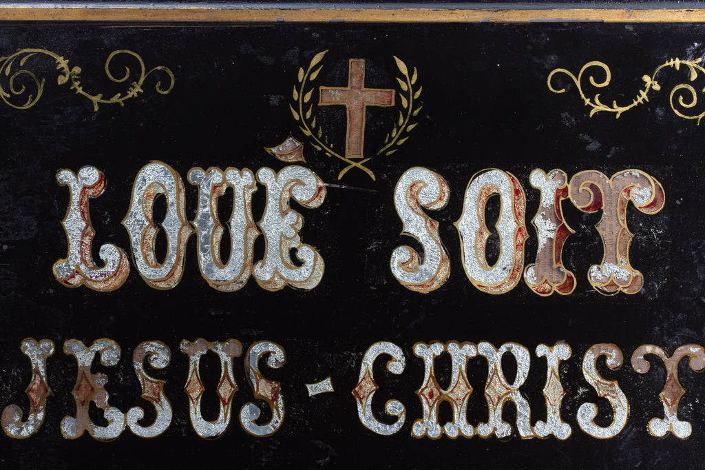 Antique French Glass Sign