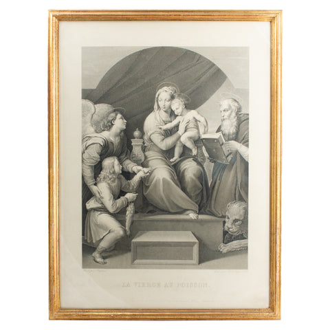 Antique Raphael Etching found in Florence, Italy