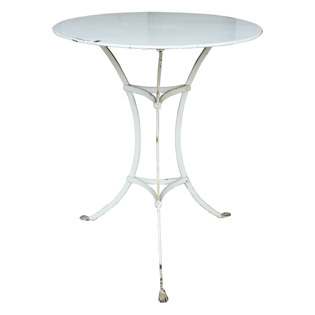 Antique French Iron Paw Foot Bistro Table (ca. 1910)