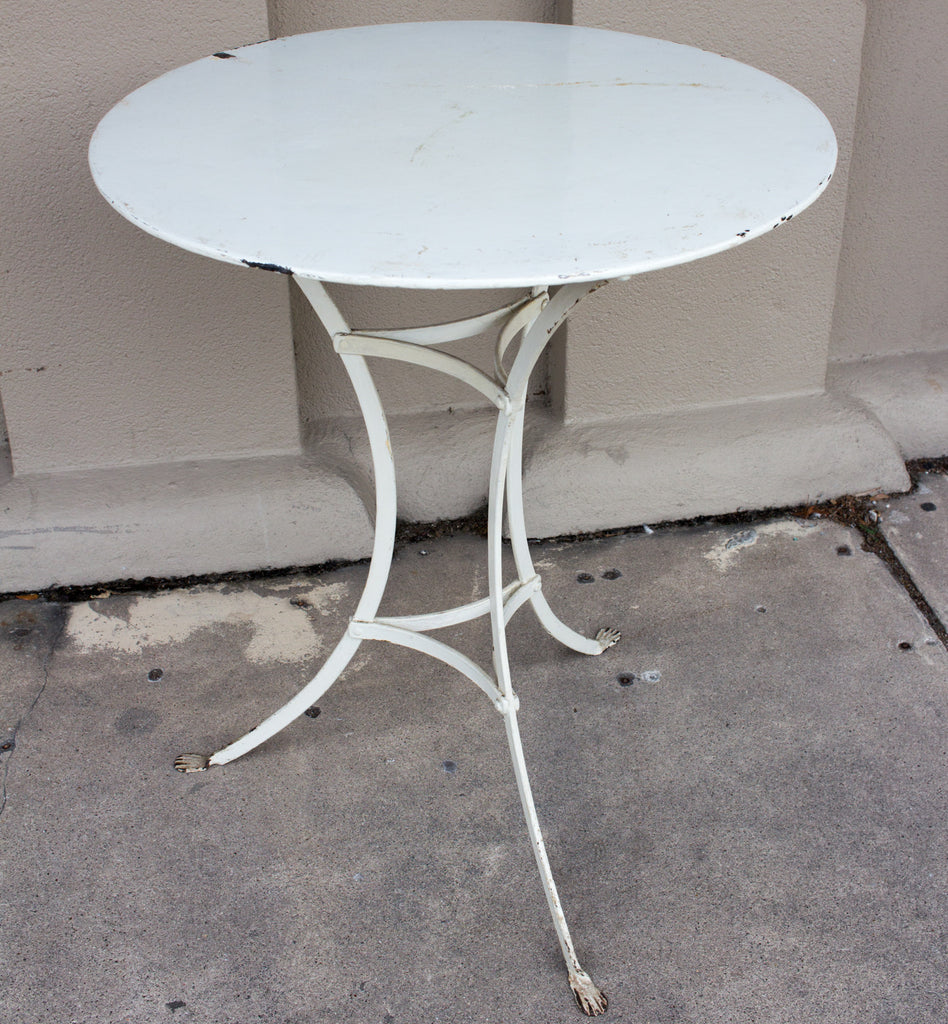 Antique French Iron Paw-Foot Bistro Table (ca. 1910)