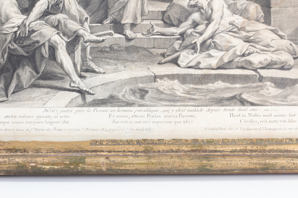 Antique Framed Religious Etching found in France