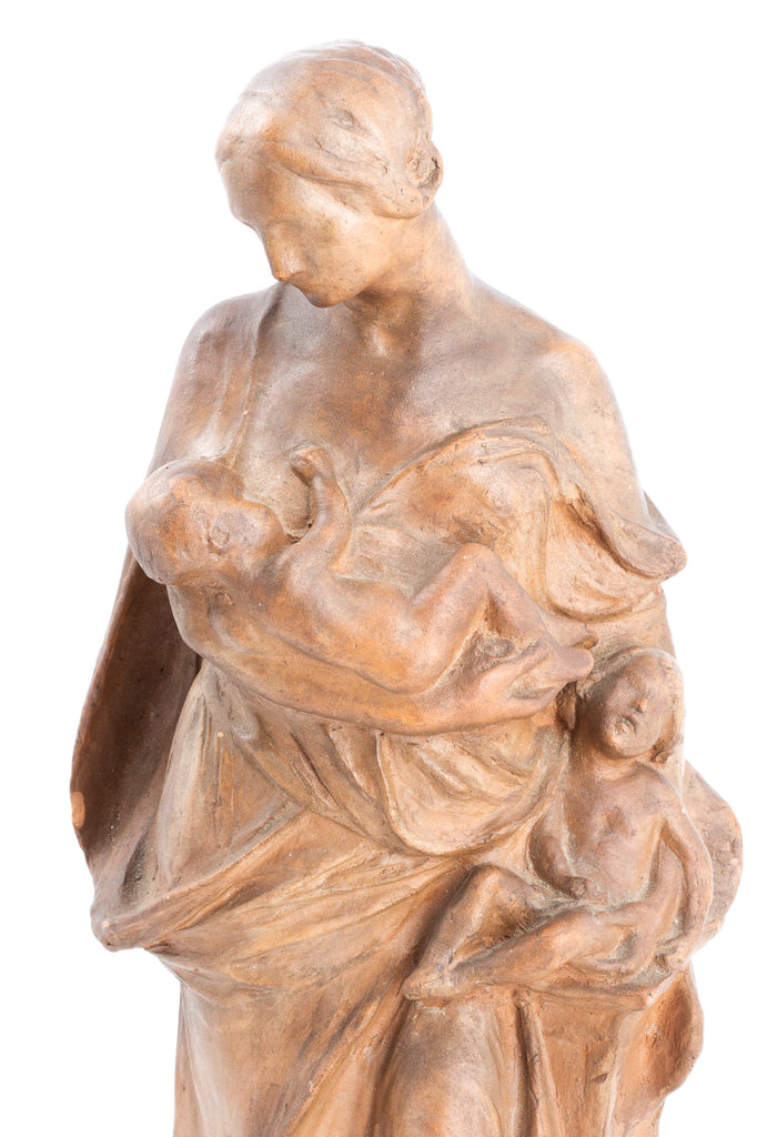 "Vintage French Earthenware ""Mother"" Sculpture"