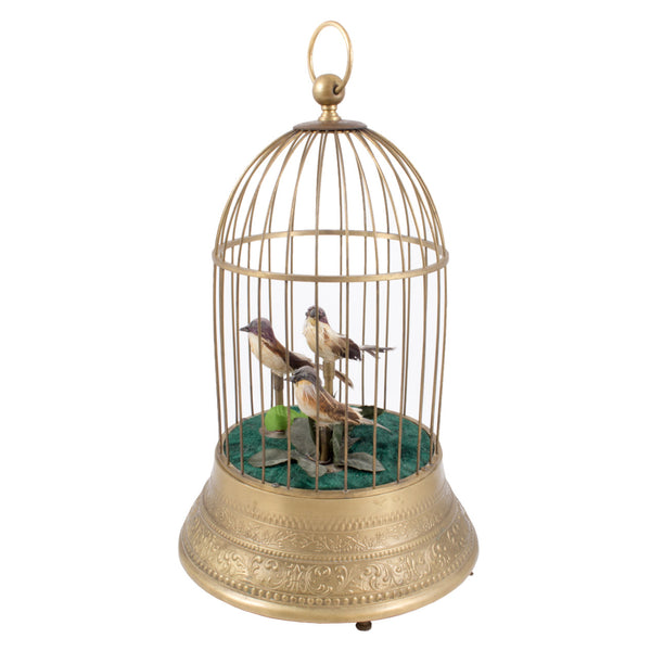 Rare Vintage Clockwork Automaton Musical Birdcage found in France