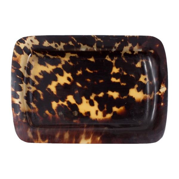 Small Vintage Faux Tortoise Shell Tray found in France