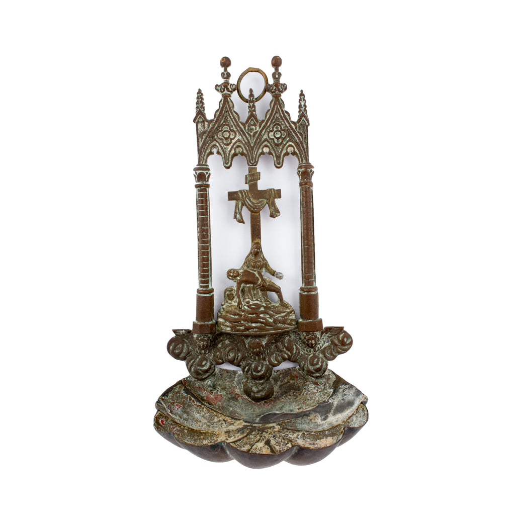 Antique Brass Holy Water Font found in France
