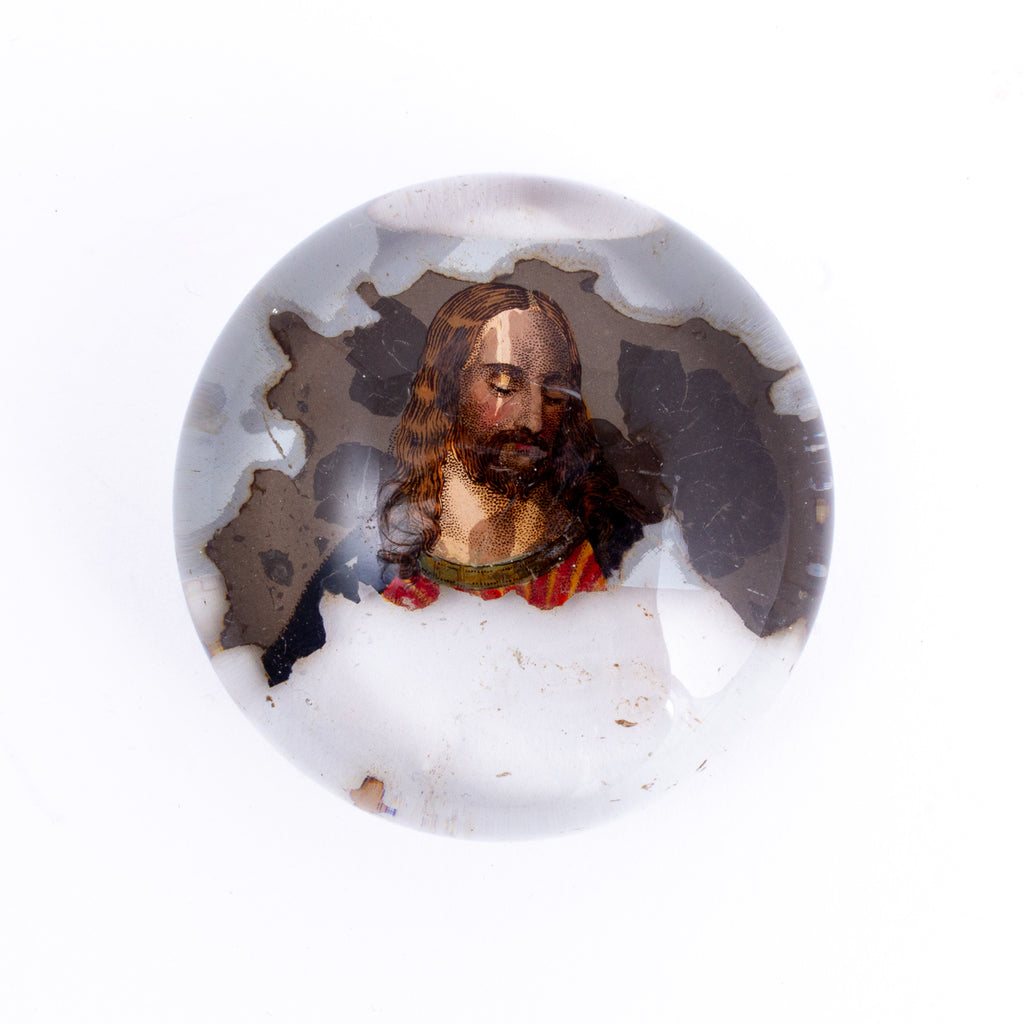Small Vintage Painted Paperweight found in France