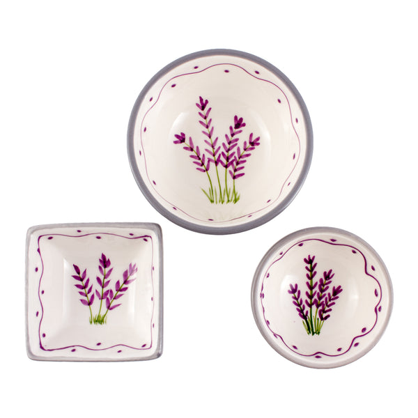 Hand Painted Vintage Lavender Ceramic Dishes found in the South of France