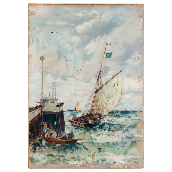 Vintage Sailing Painting found in France