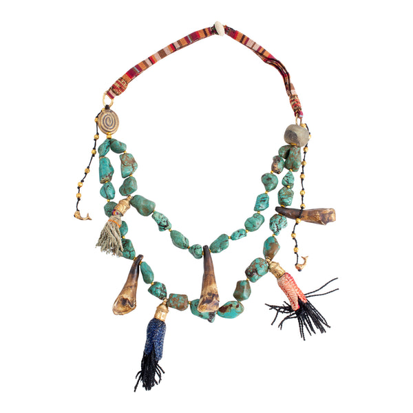 Handmade Turquoise Statement Necklace from Istanbul