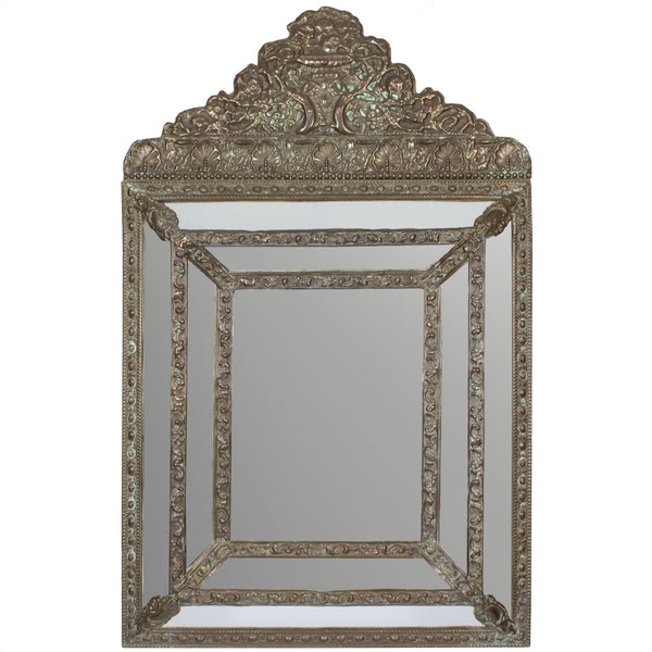 Antique French Repoussé Gilt Mirror