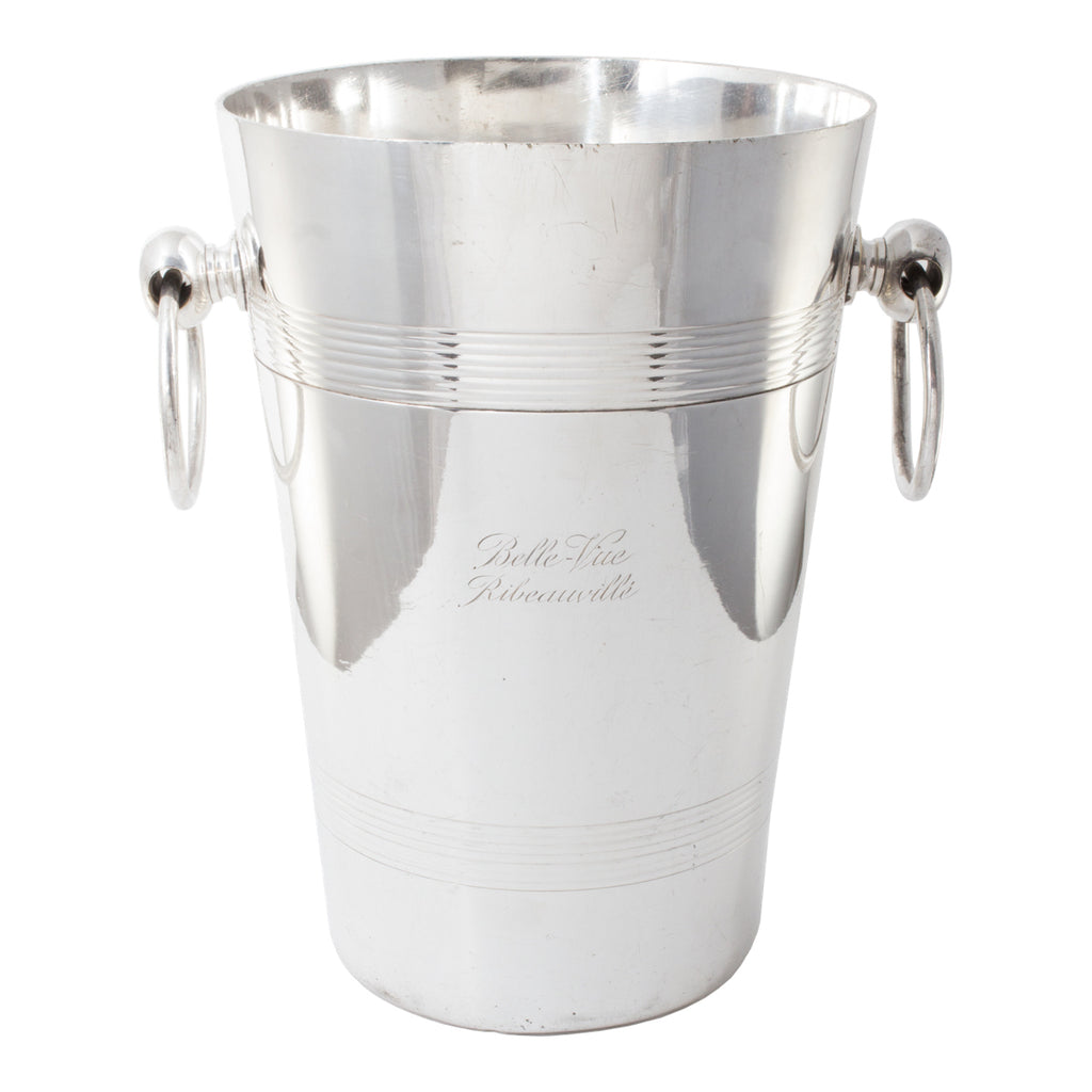 Antique Hotel Silver Champagne Bucket from Belle-Vue Ribeauvillé, Alsace-Lorraine, France