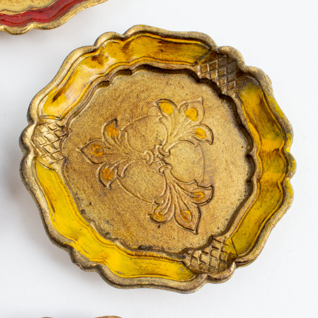 Vintage Set of Six Florentine Coasters found in Italy