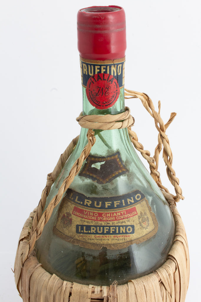 Antique Italian Ruffino Chianti Bottles