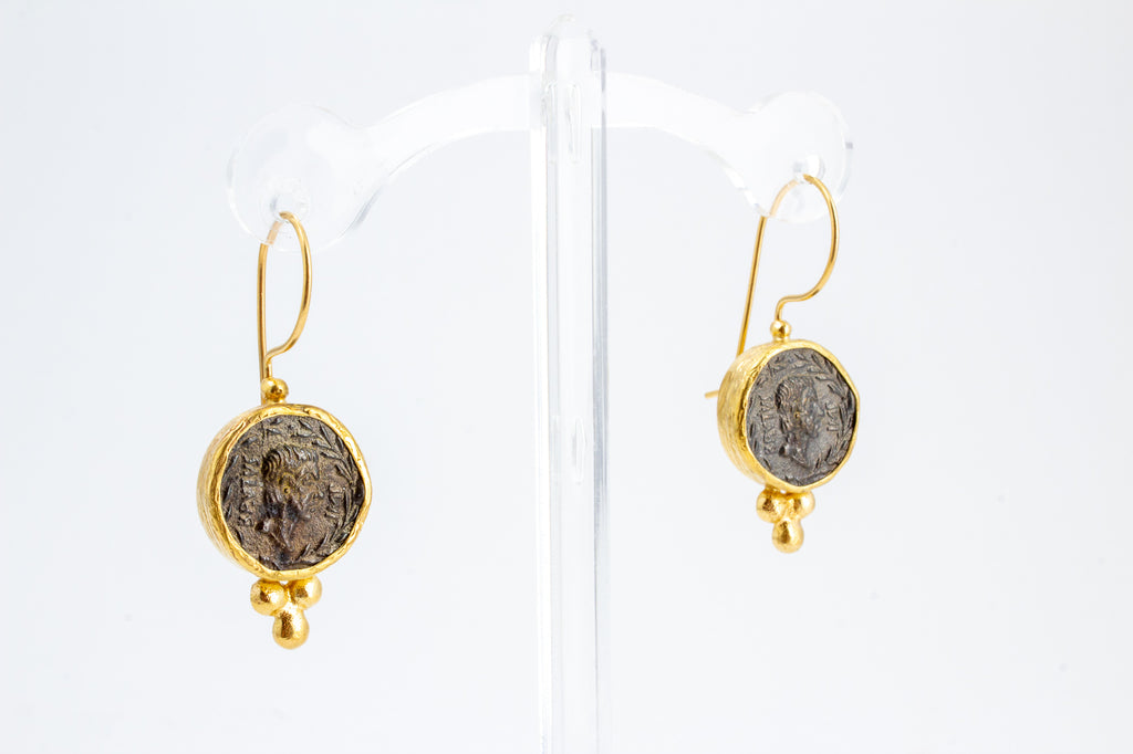 Handmade Coin Drop Earrings from Istanbul